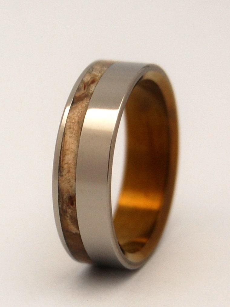silver faun wooden wedding rings by minterandrichterdes on