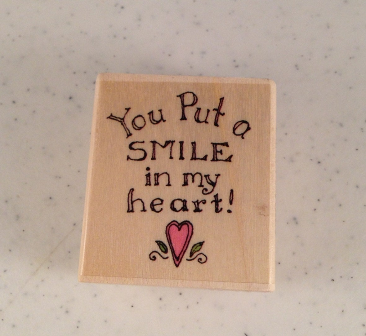 You Put A Smile On My Face Rubber Stamp By Suzsupplies On Etsy