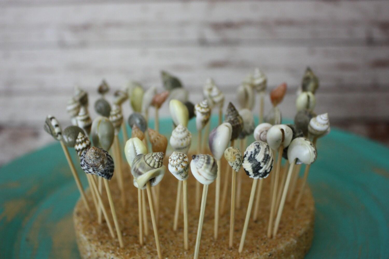 Beach Wedding favors-wedding Hors d'oeuvres-sea shell Hors d'oeuvres tooth picks-beach wedding decor-destination wedding-seashells