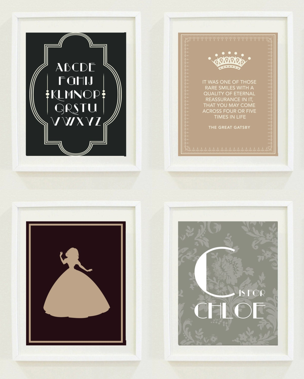 Nursery Prints Gatsby Girls Room Home Decor The By