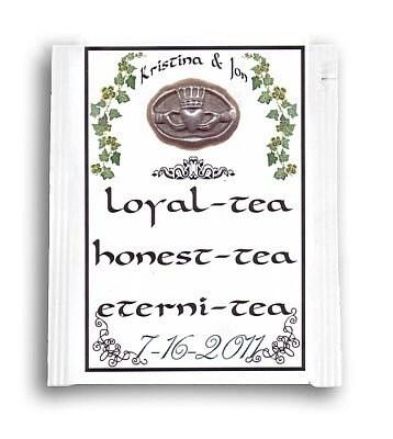 Qty 50 Irish Theme Wedding Favors Tea Bags By Handykane On Etsy