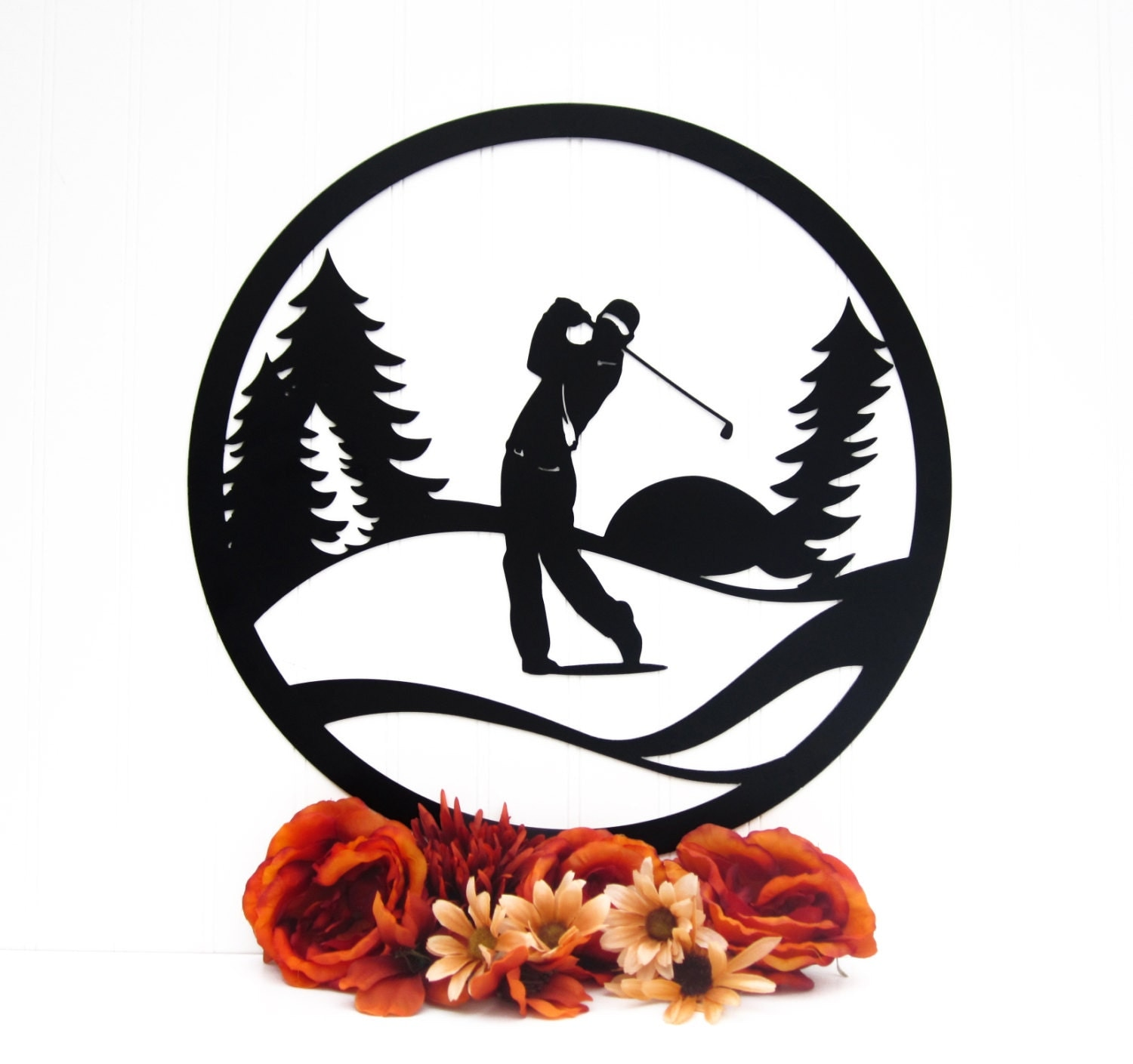 Metal Golf Wall Decor : Golfer golf course metal wall art gifts for him