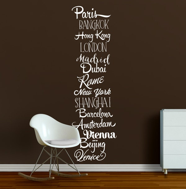 World travel wall decals