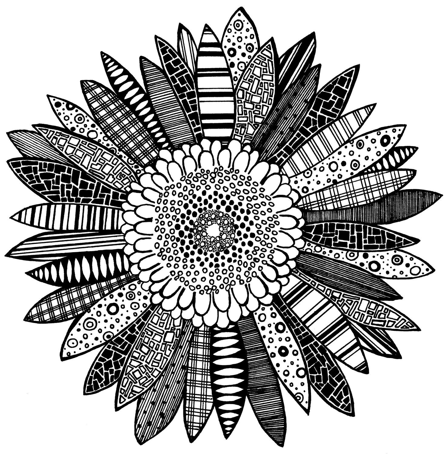 Black and white flowers drawing tumblr mightylinksfo