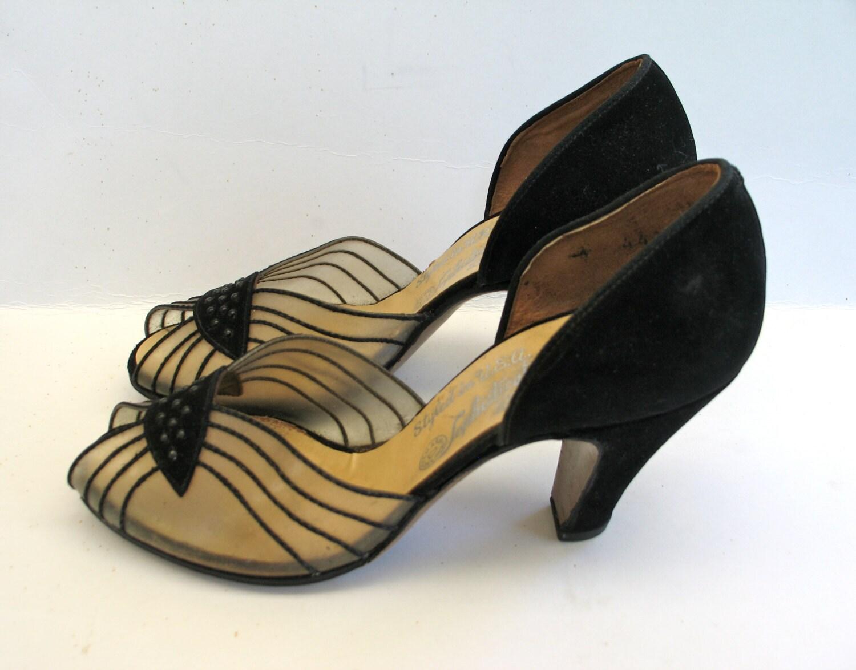 1940s shoes vintage evening pumps by violetsemporium on etsy