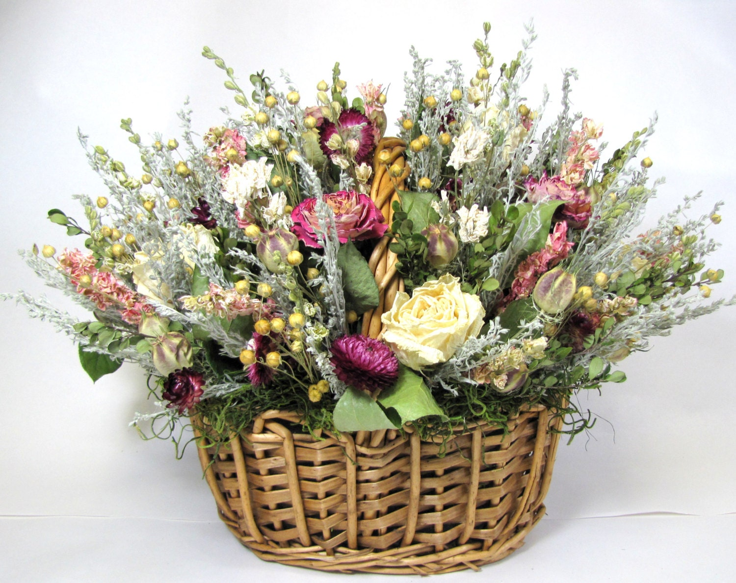 Flower Basket Arrangements Pictures : Dried floral arrangement mother s day by