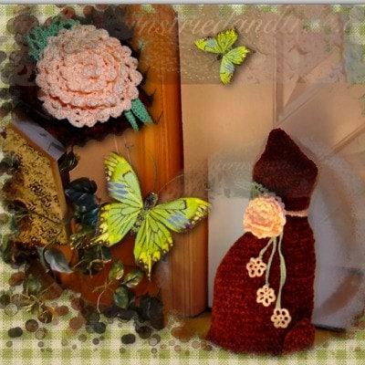 Free Crochet Cat Doorstop Patterns : Velvet Cat Doorstop Crochet Pattern by Patternstriedandtrue