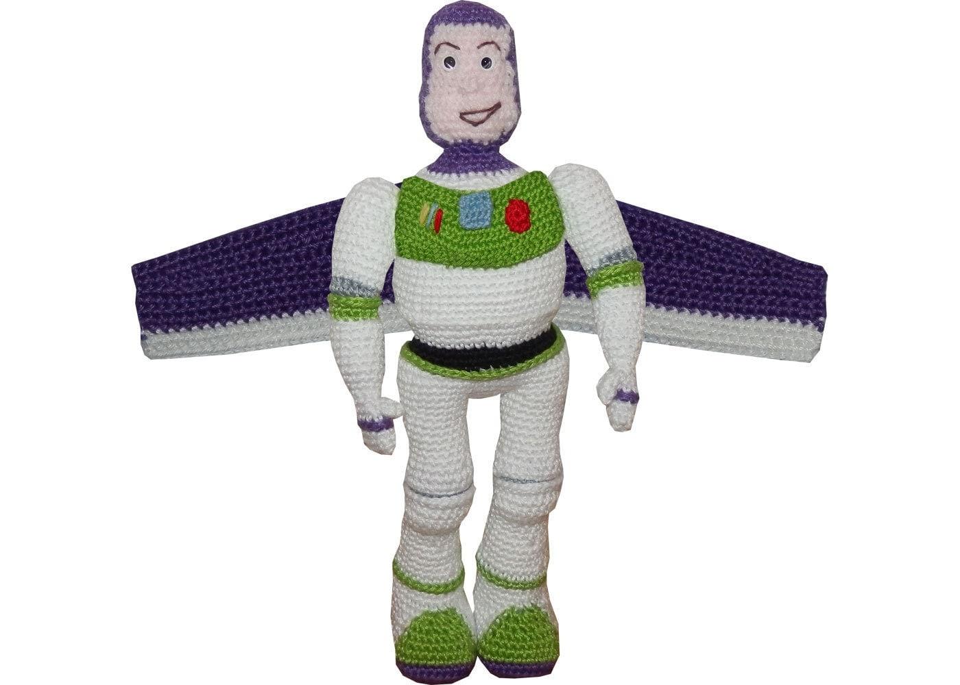 Toys Story Amigurumi : Amigurumi Crochet Pattern: Buzz Lightyear by anumi on Etsy