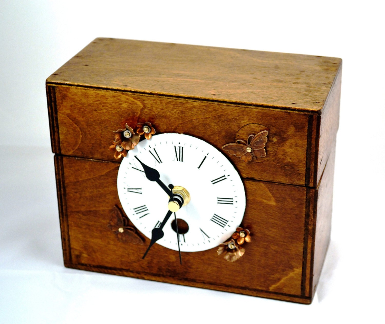 Items similar to mantel clock mantle decor handmade clock steampunk rustic home decor - Steampunk mantle clock ...
