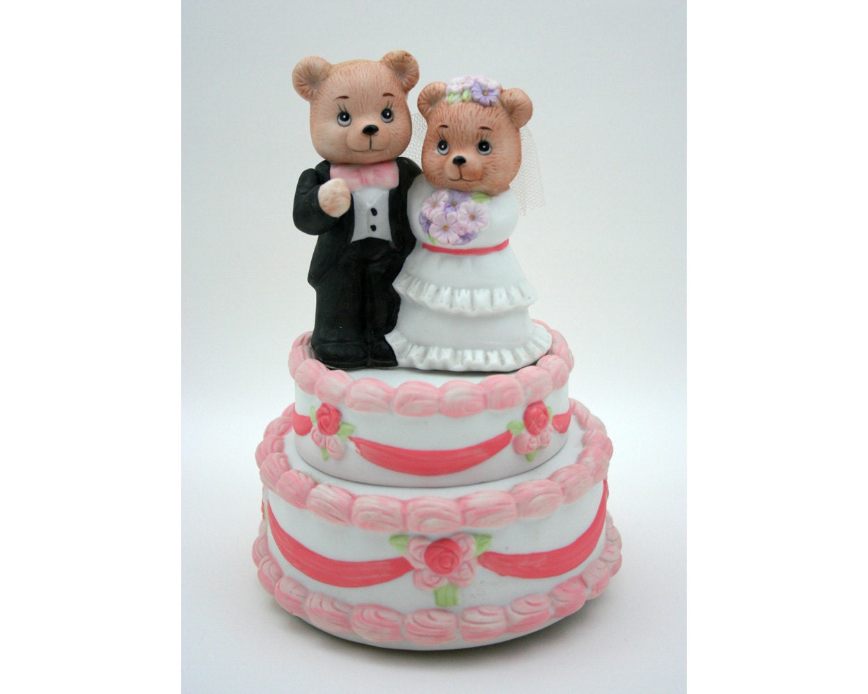 teddy bear wedding cake toppers
