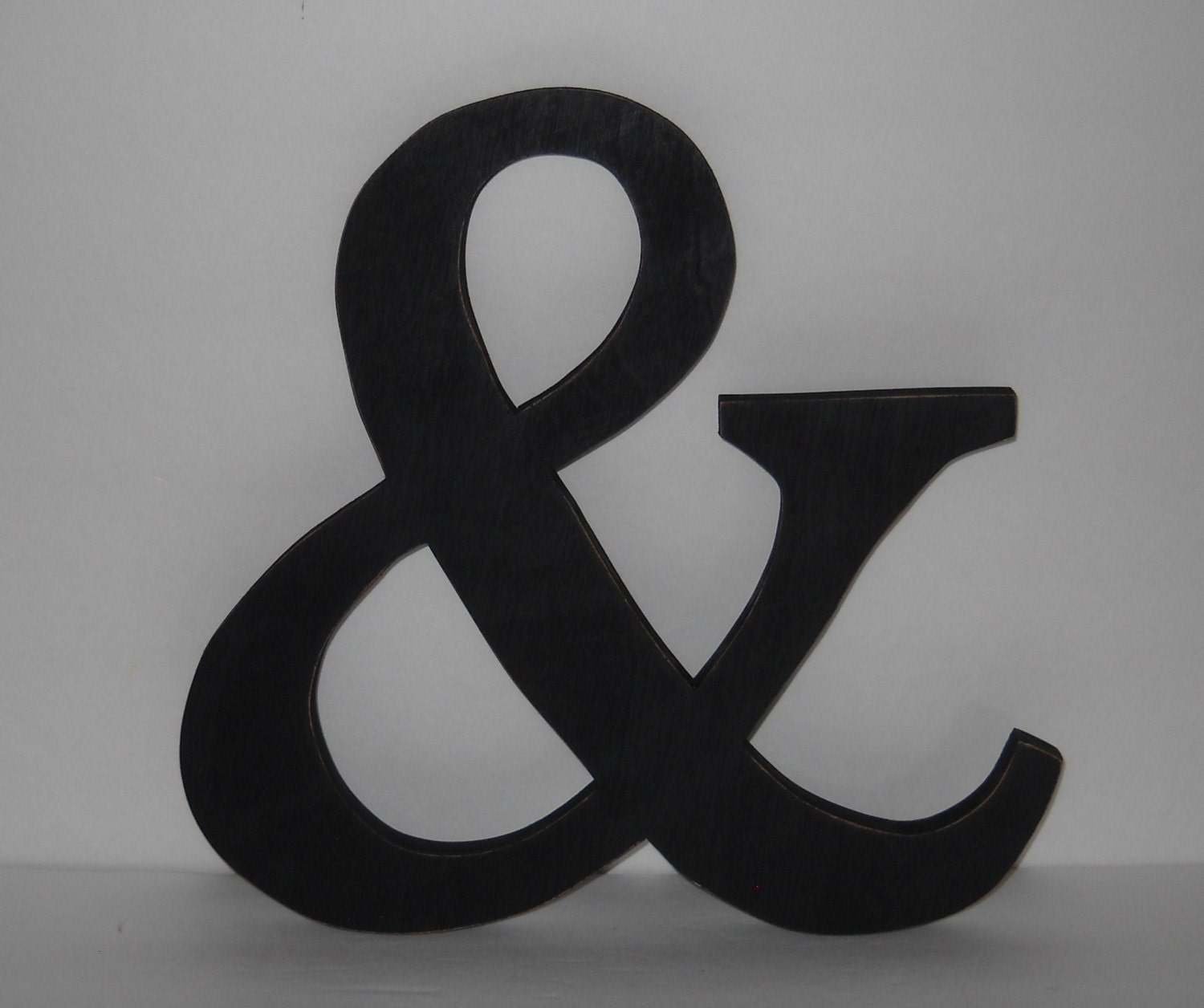 Wooden ampersand sign and sign alphabet letters 12 inch painted black