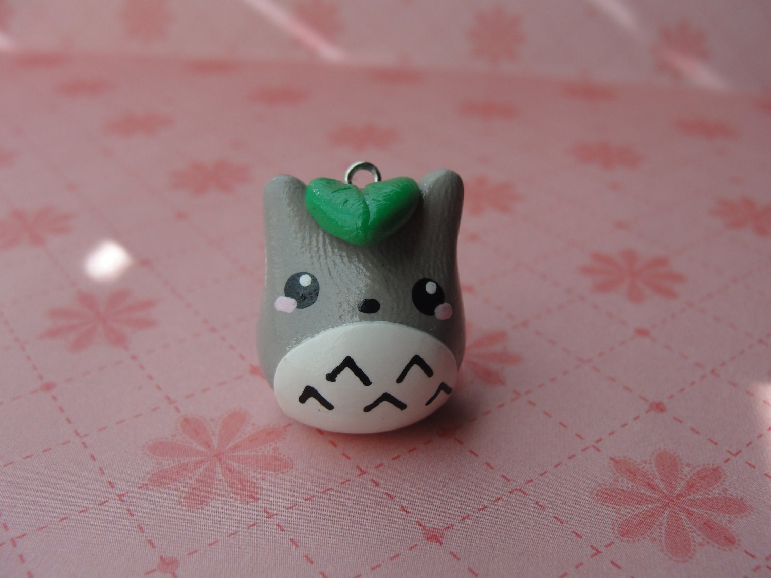 Cute clay totoro by craftyoliviacuties on etsy for Cute things to make out of clay