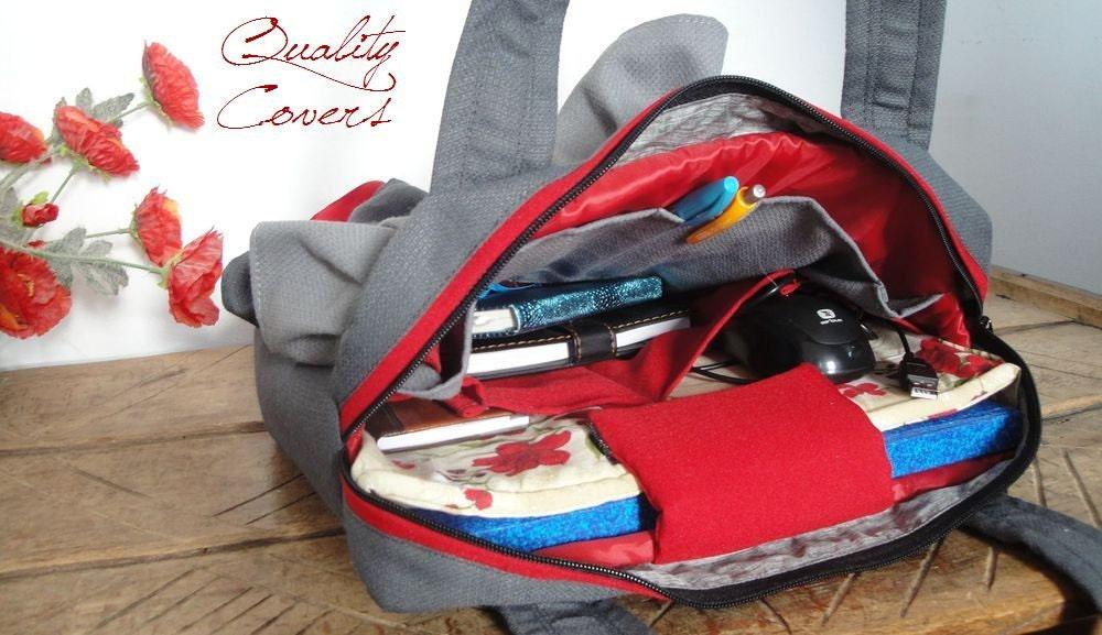 Image du produit Ordinateur portable compartiment sac dordinateur portable personnalisable pour le sac de tissu de couleur et de taille MESSENGER avec 7 poches intrieu