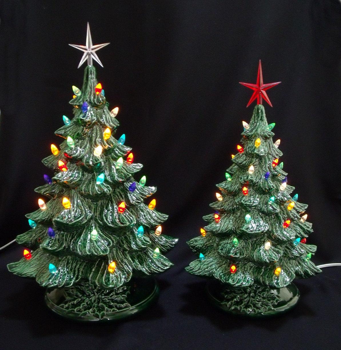 Vintage Green Ceramic Christmas Tree