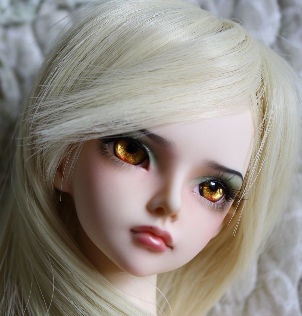 BJD eyes Doll eyes Hand made available in 12141618202224mm Amber Spyglass made to order
