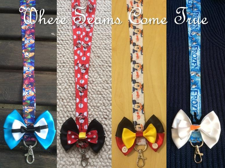 Disney Heroes Inspired Lanyard With Bow