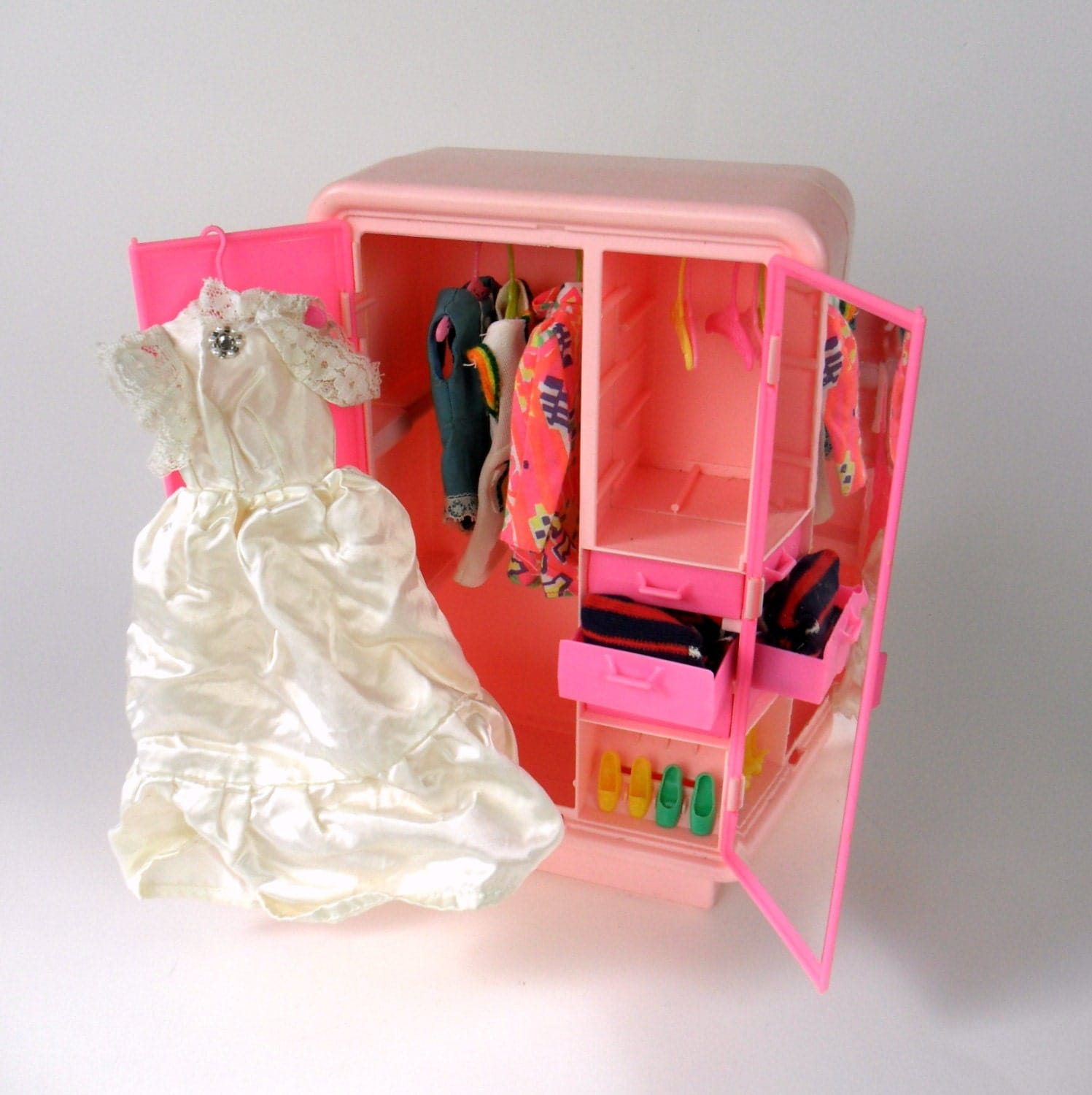barbie dream furniture armoire 70s by attyssproutvintage