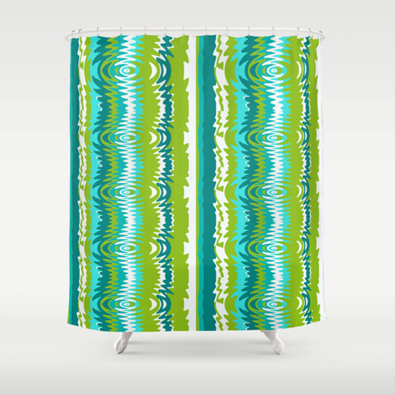 Mid century shower curtain