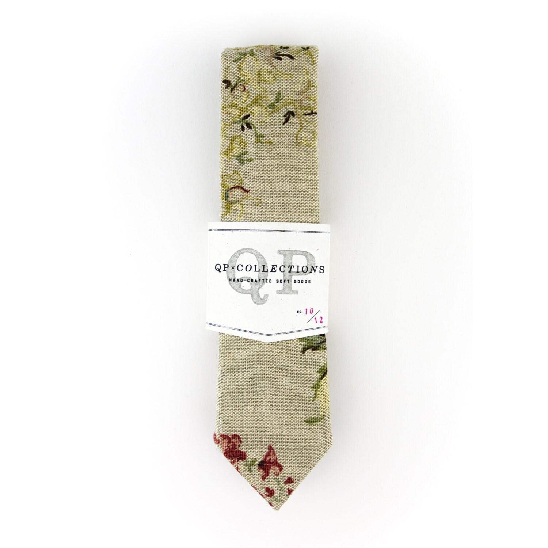 The Garden Floral Skinny Tie