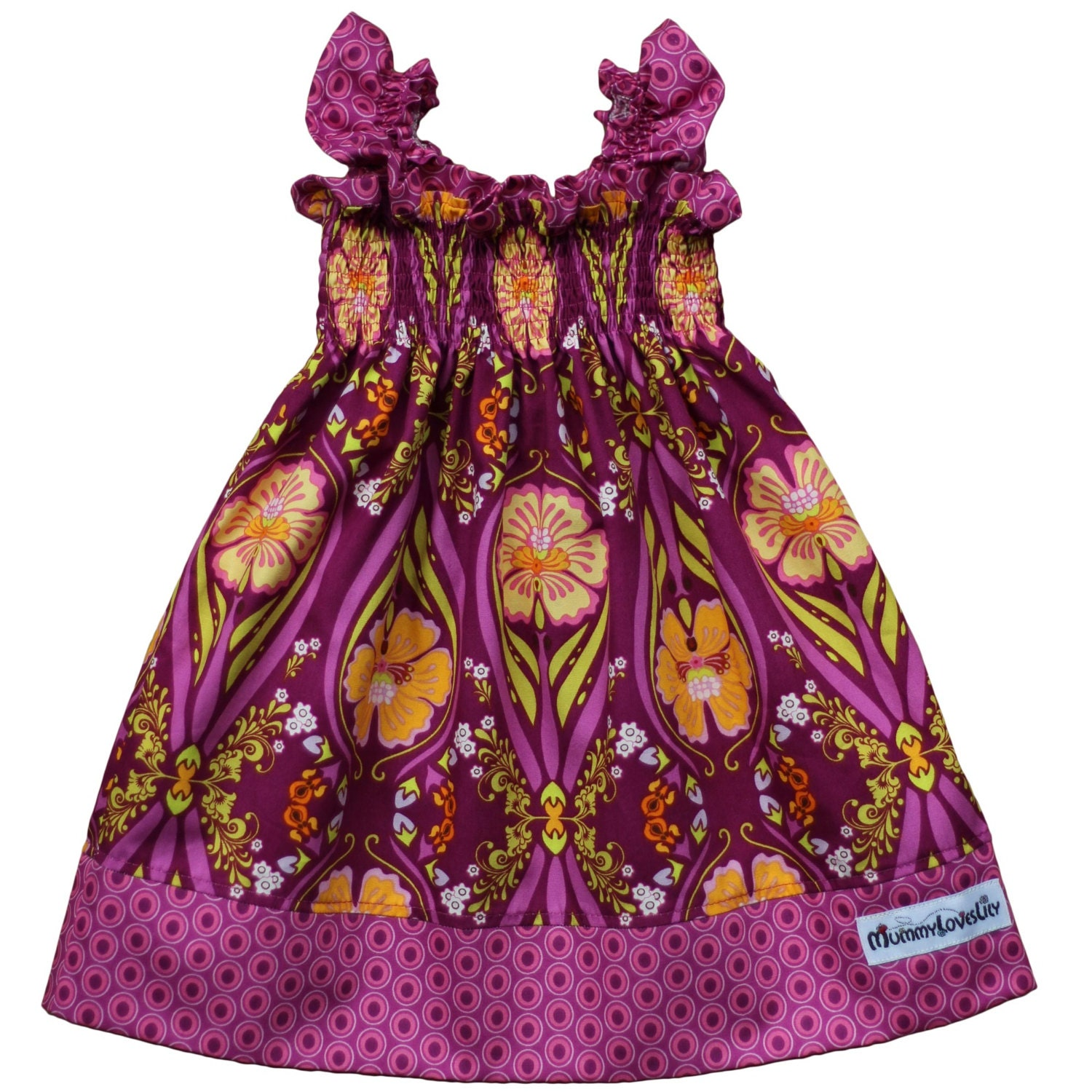 Shirred Dress Shirred Summer Dress Smocked Dress Sundress Girls Dress (Choice of Fabric) Sizes 03 months to 78 years MADE TO ORDER