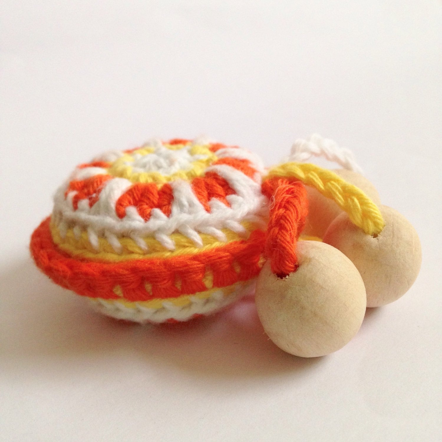 Baby rattle teething toy crochet rattle