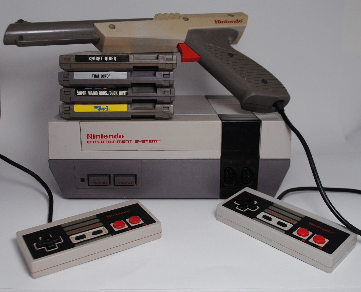 nintendo entertainment system nes console with 4 by. Black Bedroom Furniture Sets. Home Design Ideas