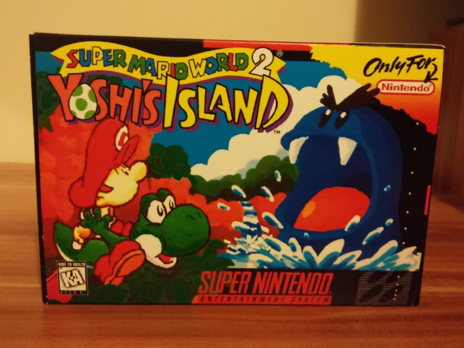 SNES Super Mario World 2  Yoshis Island  Repro Box and Insert NO Game Included