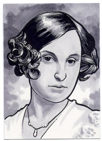 Original Downton Abbey Sketch Card of Lady Edith Crawley ACEO - chrismeeks1
