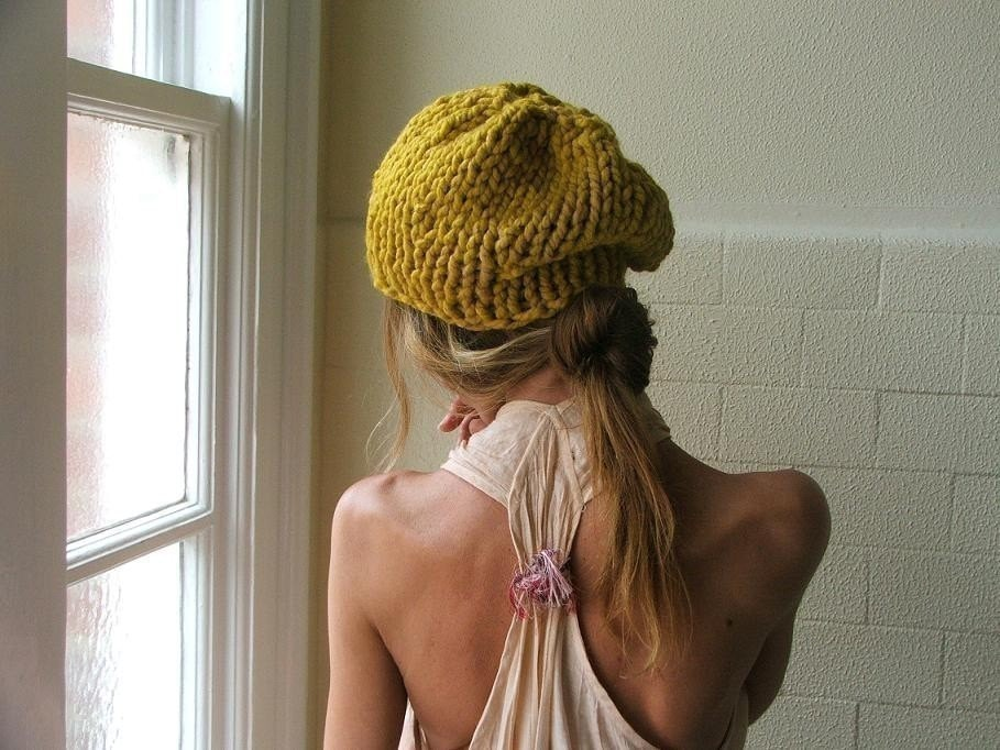 Mustard Yellow Chunkier hat
