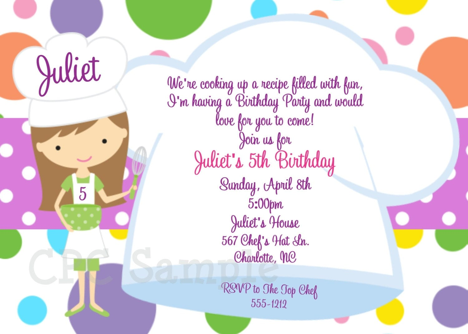 Cupcake Artinya : Cooking Party Invitation, Baking Birthday Invitations by ...