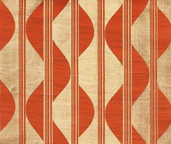 Geometric Orange Curtains