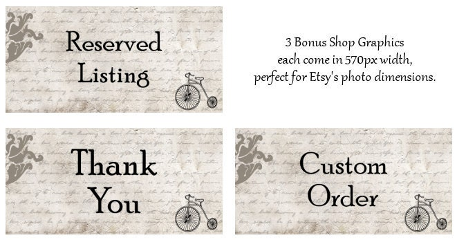Down Antique Street: 3 bonus shop graphics