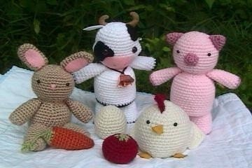 Free Crochet Pattern Farm Animals : Amigurumi Patterns Crochet Farm Animal Pattern Set by ...