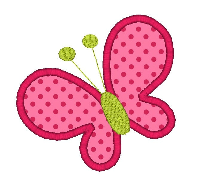 Butterfly Applique Machine Embroidery Design-INSTANT By SewChaCha