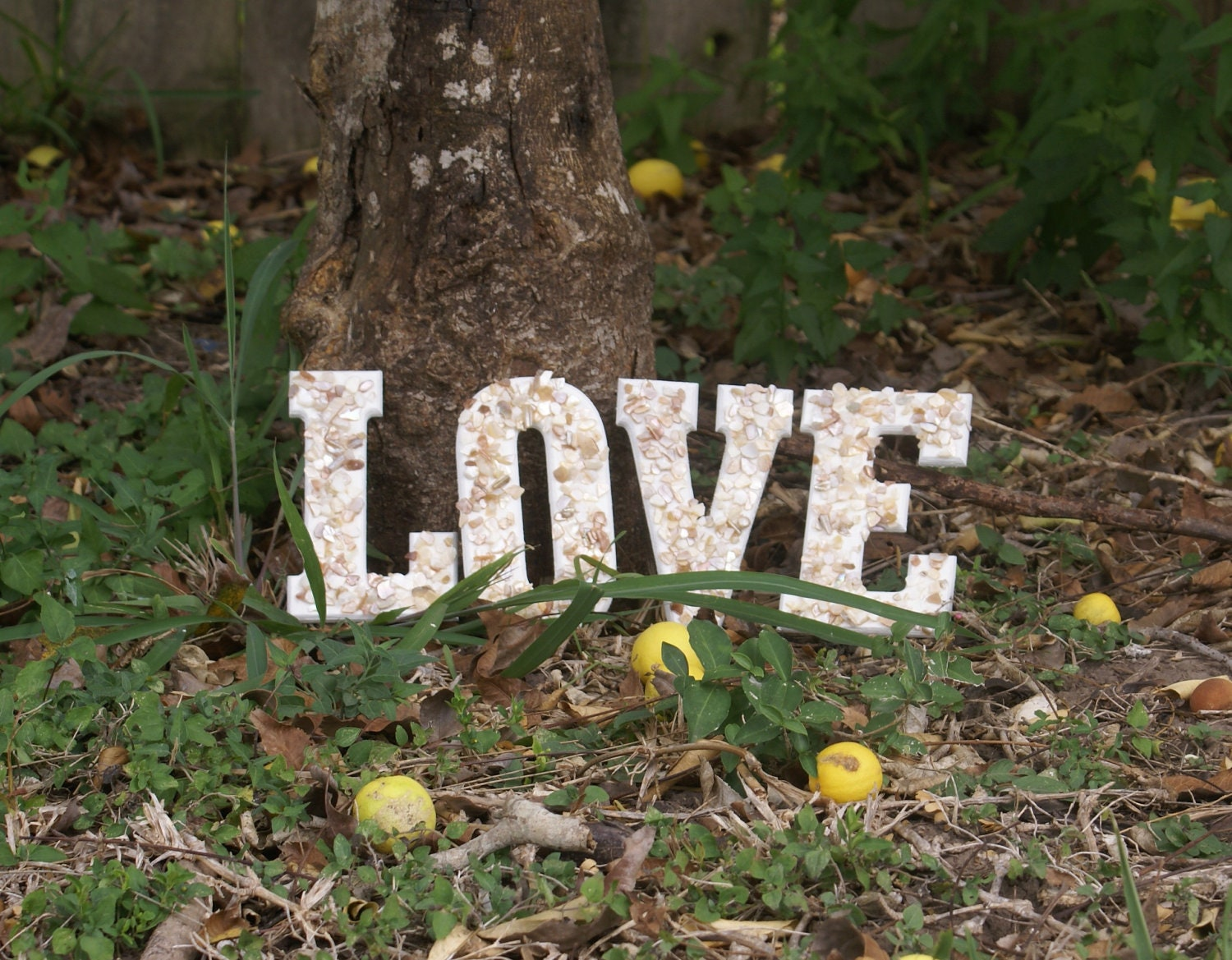 Signage wedding decor seashell Love Letters beach by JustShellin