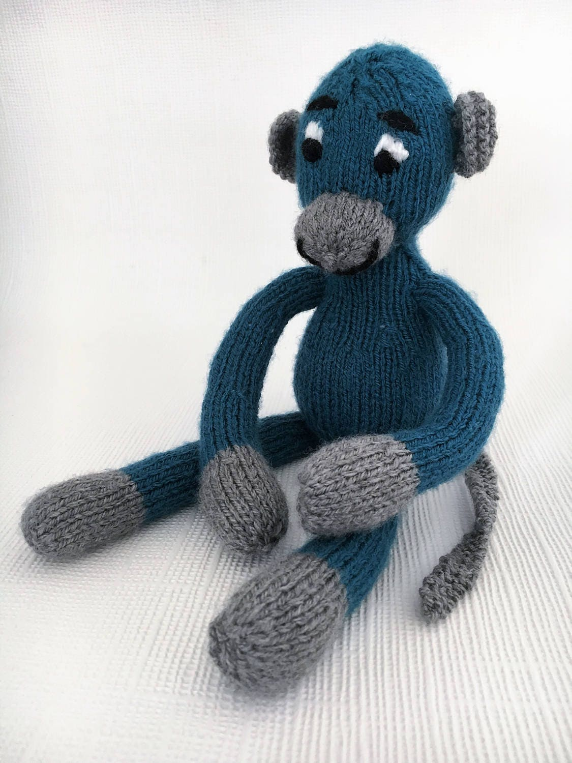 Knitted Monkey  Knitted Toy  Baby Shower Gift  Baby Toy  Stuffed Toy