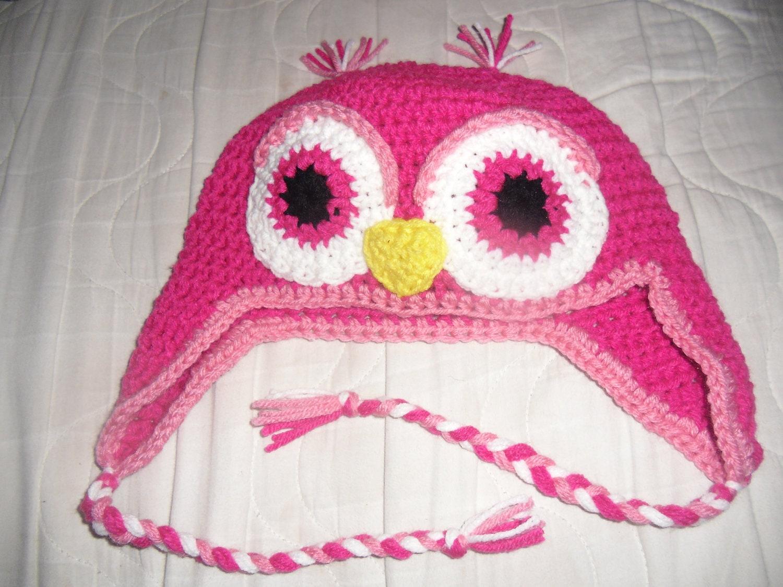 Crochet Owl Beanie