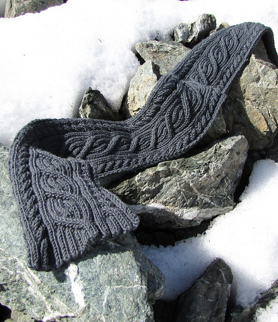 Knitting Pattern For Reversible Cable Scarf : CROCHET REVERSIBLE CABLE SCARF   Only New Crochet Patterns