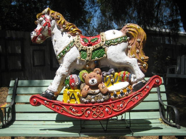 Large Christmas Light Up Lawn Ornament Rocking By