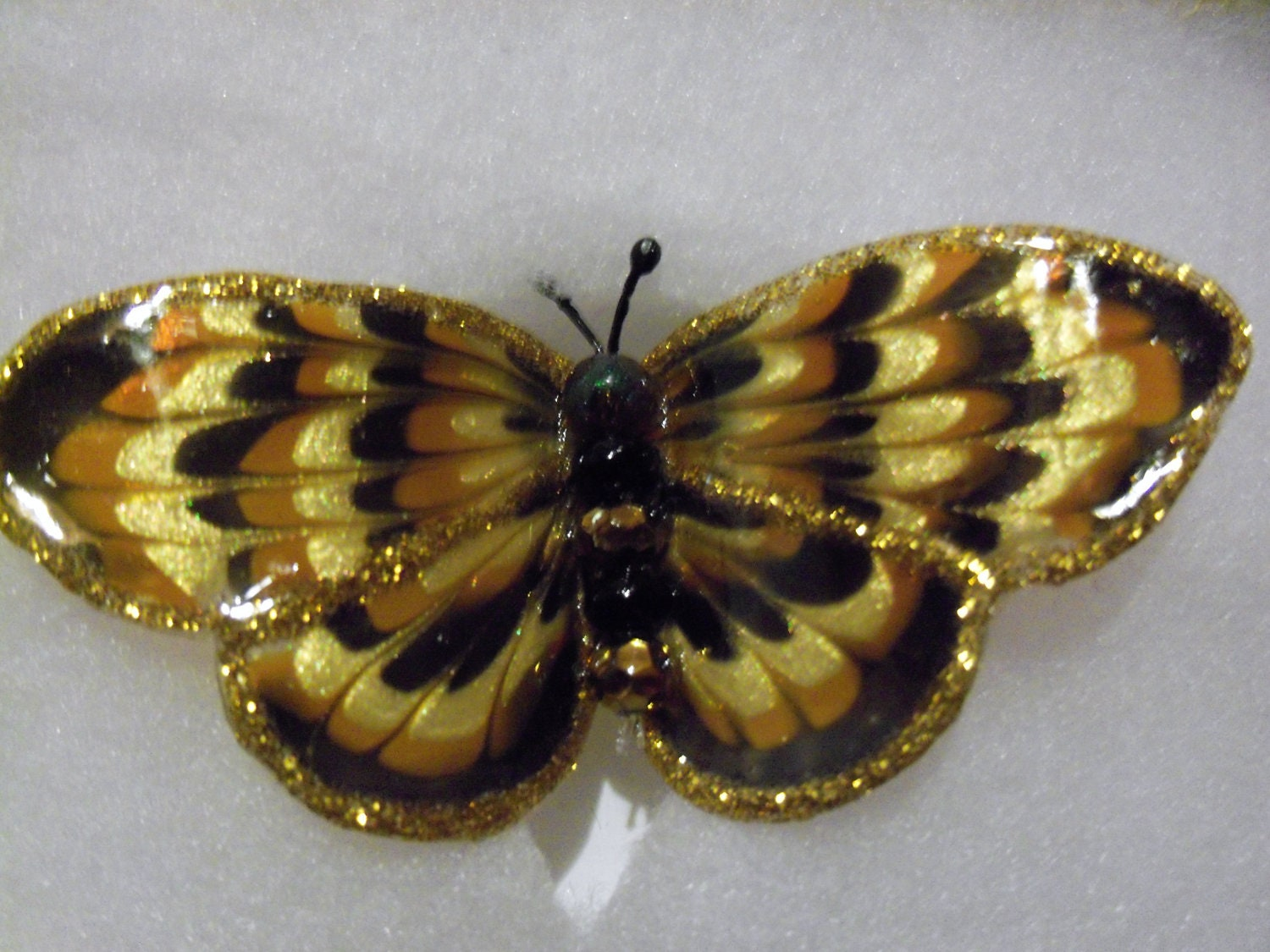 Gold and Brown  butterfly brooch