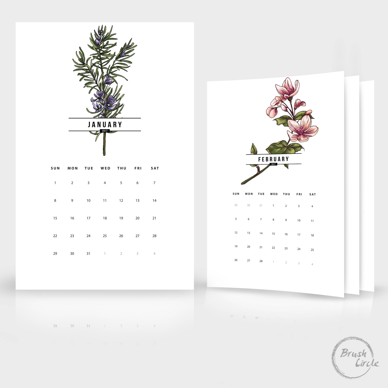 2017 2018 Calendar Template 12x18 Photoshop Wall Calendar