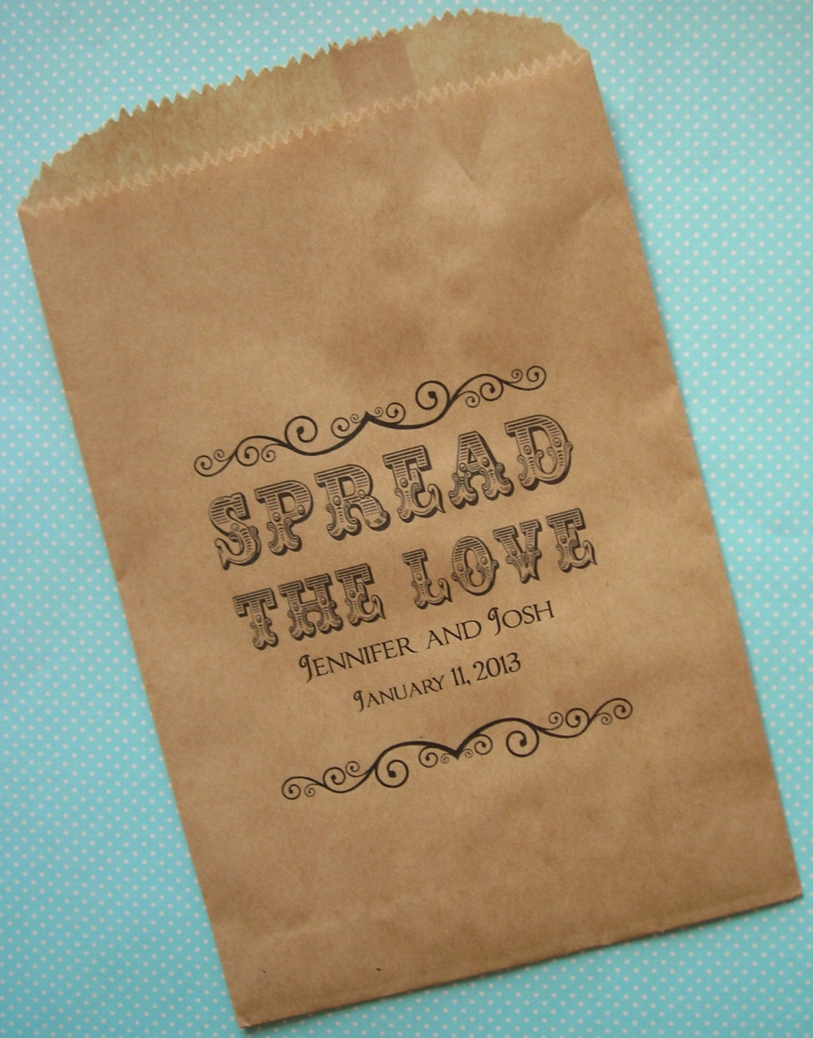 25 Small Brown Kraft Bags, Wedding Favor Bags, PERSONALIZED bags ...