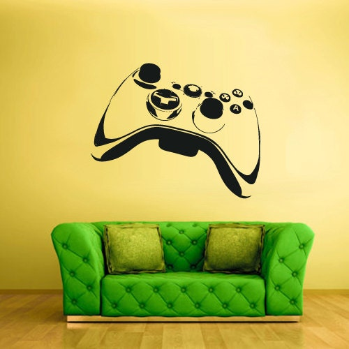 Wall decal vinyl sticker decals gaming time by stickersforlife for Support mural xbox one