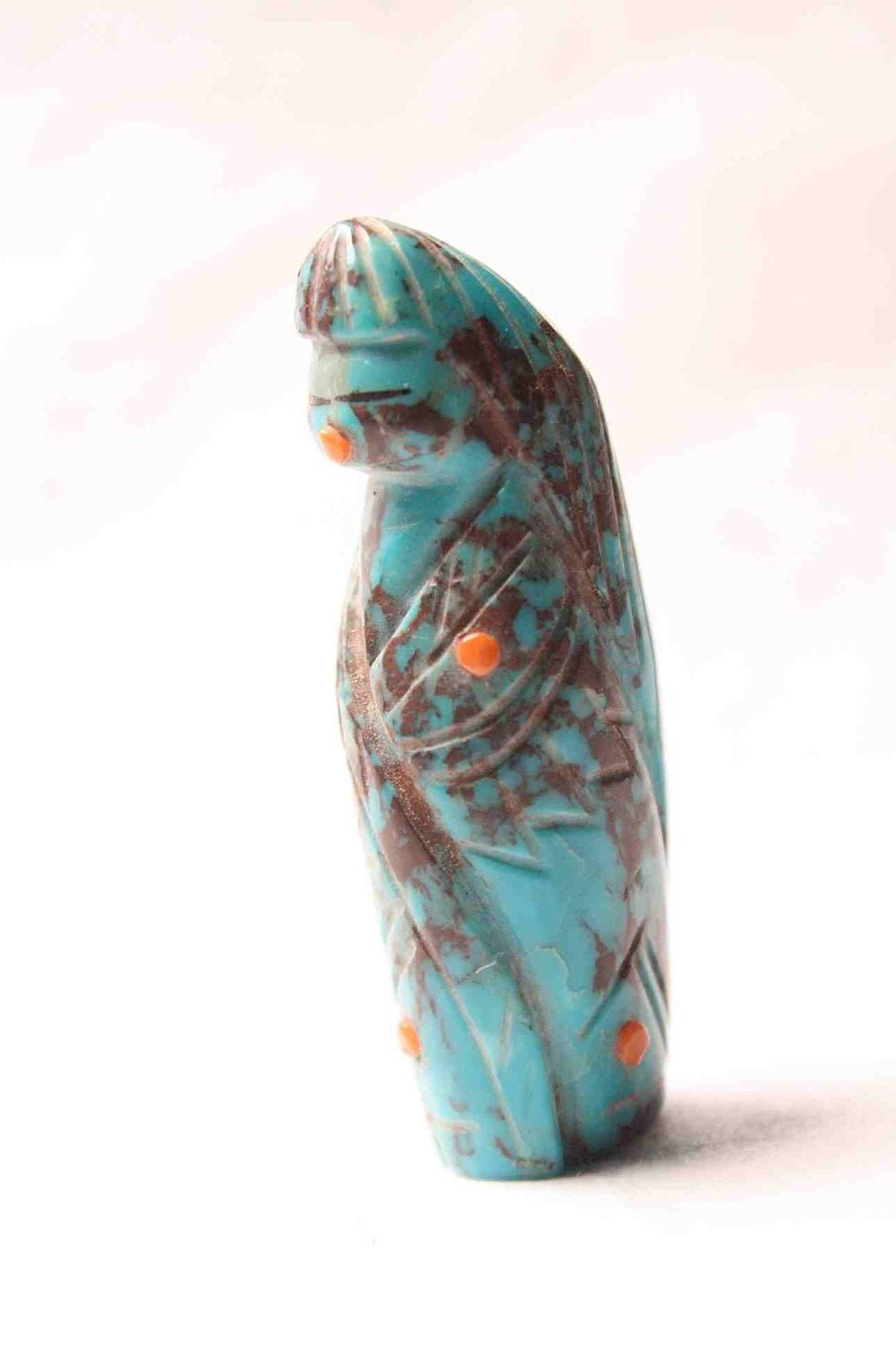 Zuni fetish corn maiden carved turquoise by foundaround on