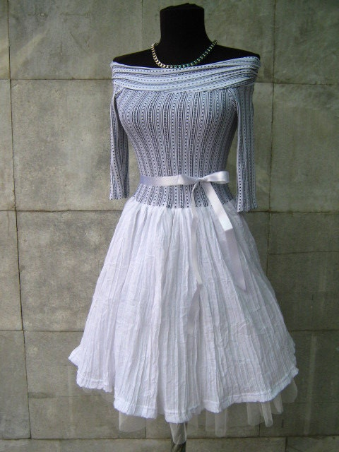 Cool  Combination Strapless Dress With Zigzag Sequined Skirt For Women