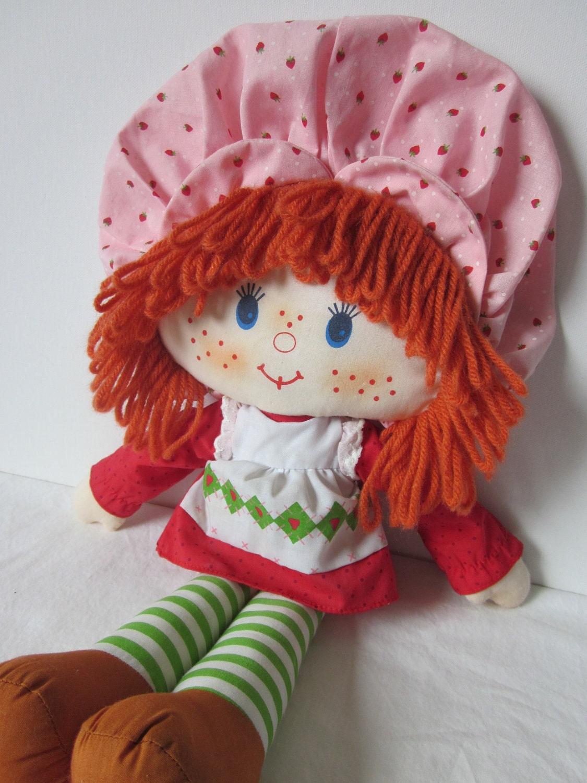 Vintage Strawberry Shortcake Rag Doll by NostalgiaMama on Etsy