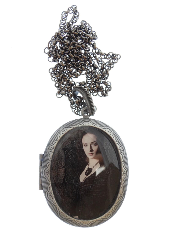 Sansa Stark Locket  Gift Box Sophie Turner Game of Thrones Necklace Game of Thrones Jewellery Game of Thrones Jewelry Gift