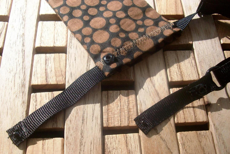 black with brown dots garter belt pocket by stressbegon on