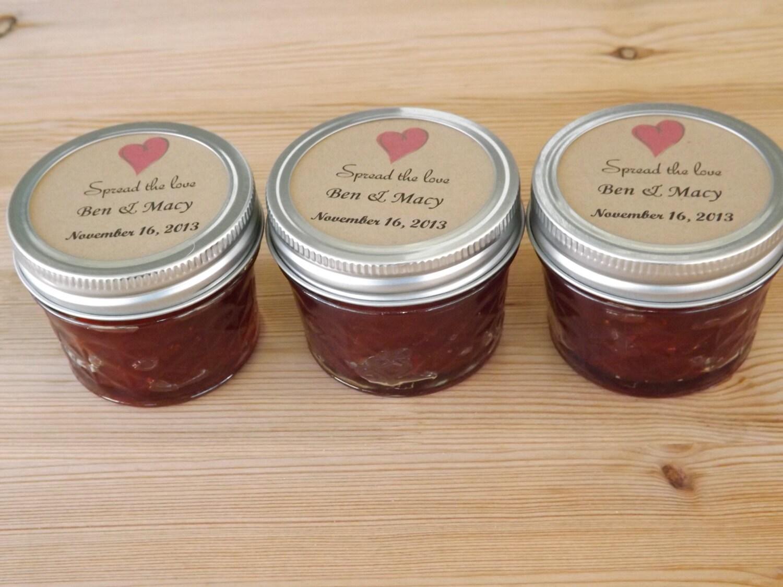 Spread The Love Wedding Favors Jam Jar Favors Mason Jar Favors Set Of 12