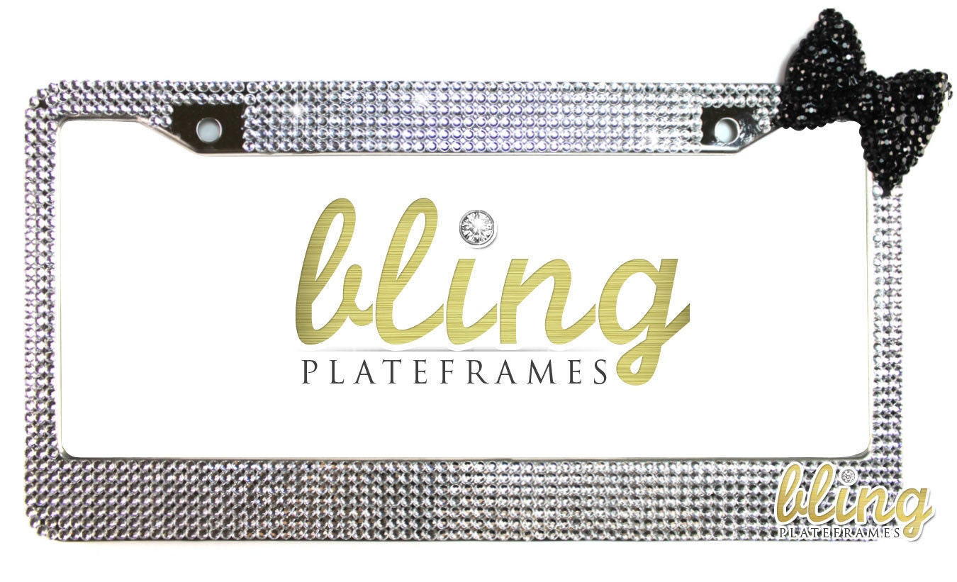 USA Flag Bling Pure Handmade Waterproof License Plate